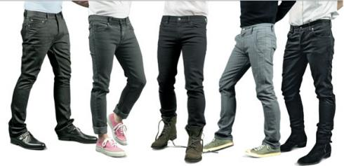If you're a guy, skinny jeans will get you nowhere.