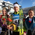 Under the Mount Triglav: Jakov Fak at Pokljuka Nordic Training Centre, with local fans in the Slovenian national costume / Source: biatolon.si