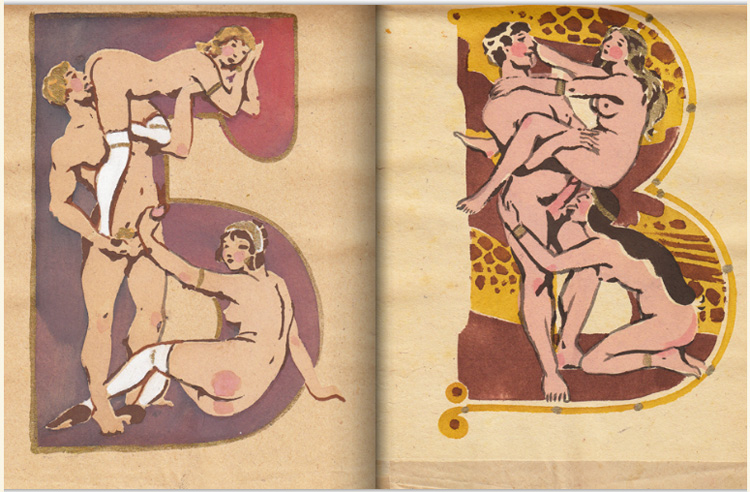 The Soviet erotic alphabet picture book from