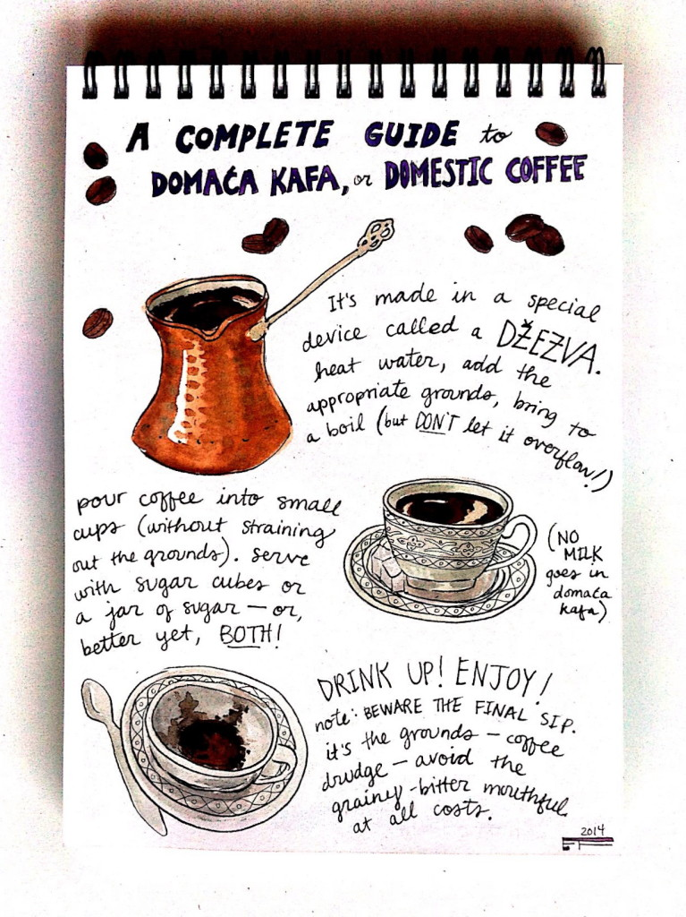How to brew a proper Serbian coffee. No milk, no sugar, keep it real. © Emma Fick 2014